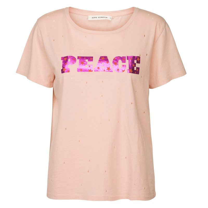 Image of Cameo Rose Tee PEACE - S181240 fra Sofie Schnoor (56281-811)