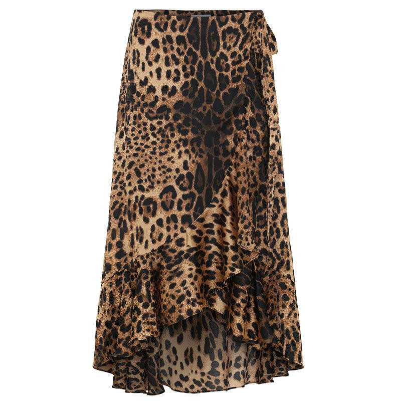 continue – Leopard lisa skirt maxi - 5045 fra continue på eness