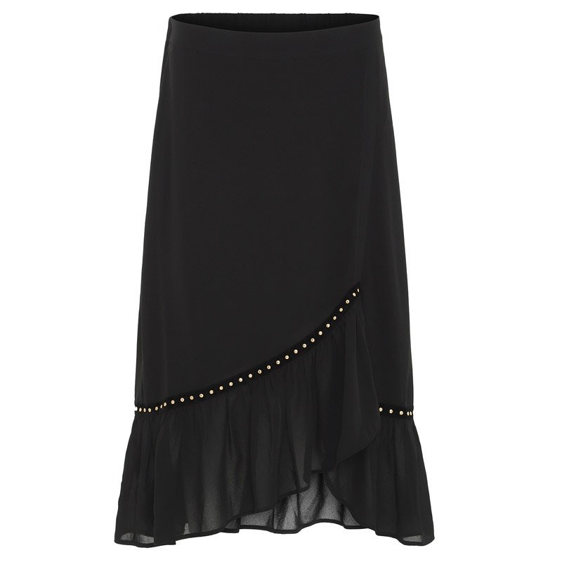 continue – Black nivi skirt maxi - 5049 fra continue fra eness