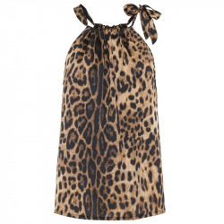 Leopard Liva top - 1372 Fra Continue