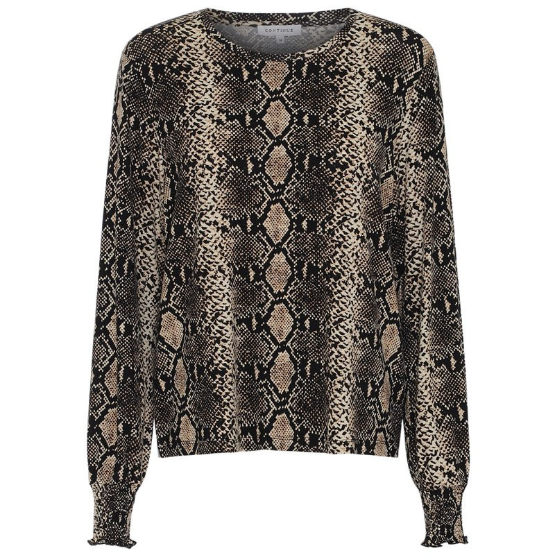 Image of   SNAKE Bluse jersey - Anne 6148 Fra Continue