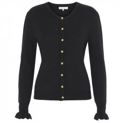 Black Claire knit Cardigan 4160 fra Continue