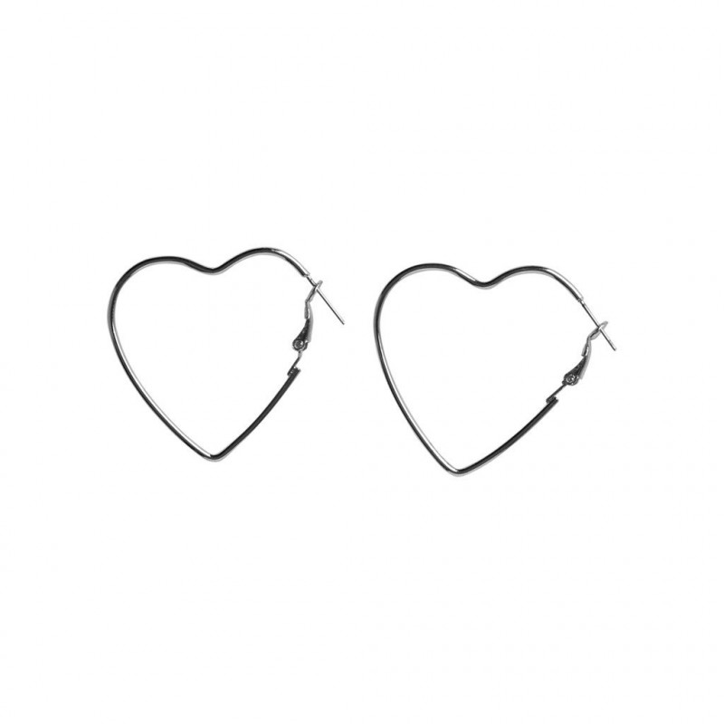 Silver Colour Earrings - 17096381 fra Pieces