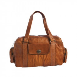 Cognac PCTOTALLY ROYAL LEATHER Small bag 17055351 fra Pieces
