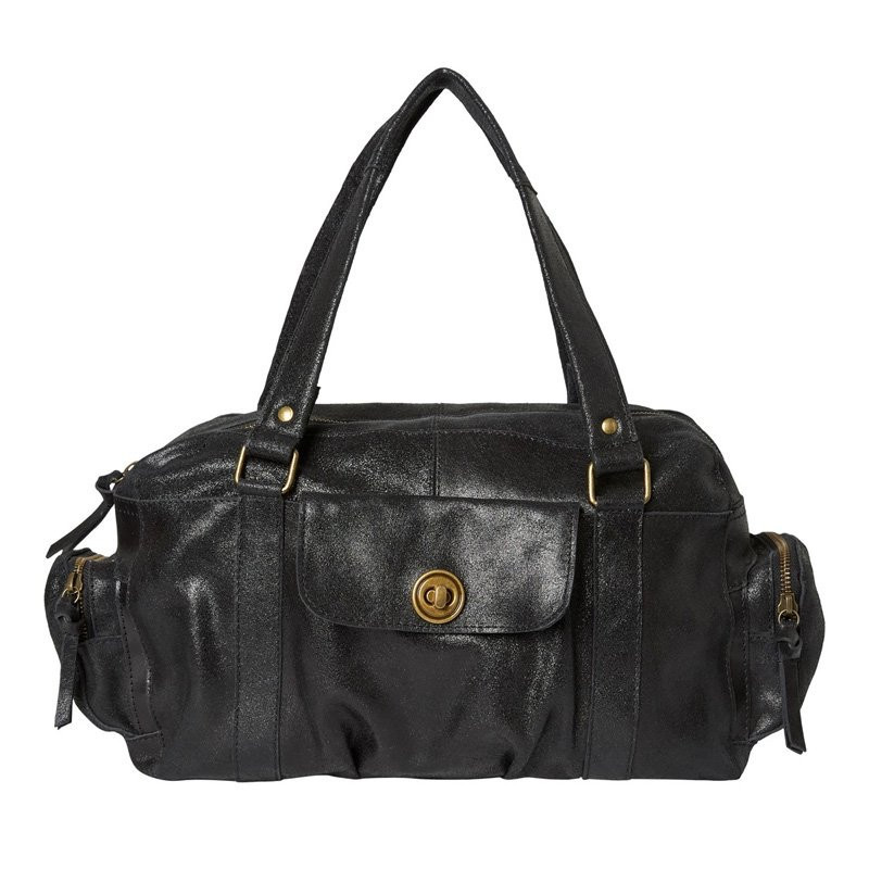 Image of Black PCTOTALLY ROYAL LEATHER Small bag 17055351 fra Pieces (86291-672)