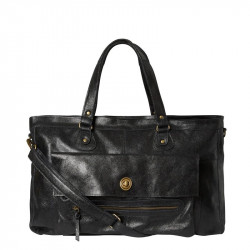 Black PCTOTALLY ROYAL LEATHER TRAVEL BAG NOOS 17055349 fra Pieces