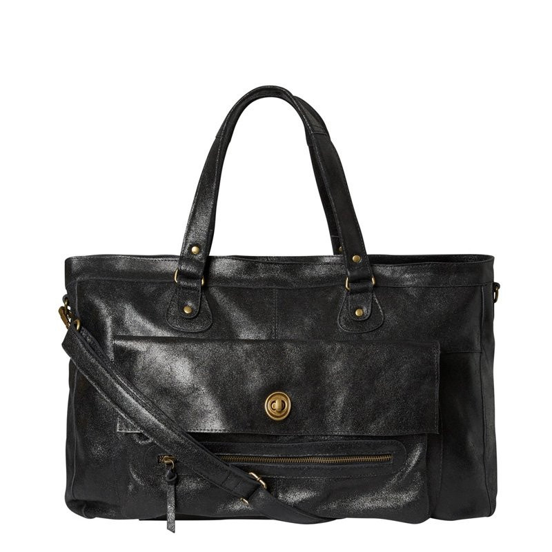 Image of Black PCTOTALLY ROYAL LEATHER TRAVEL BAG NOOS 17055349 fra Pieces (86291-a24)