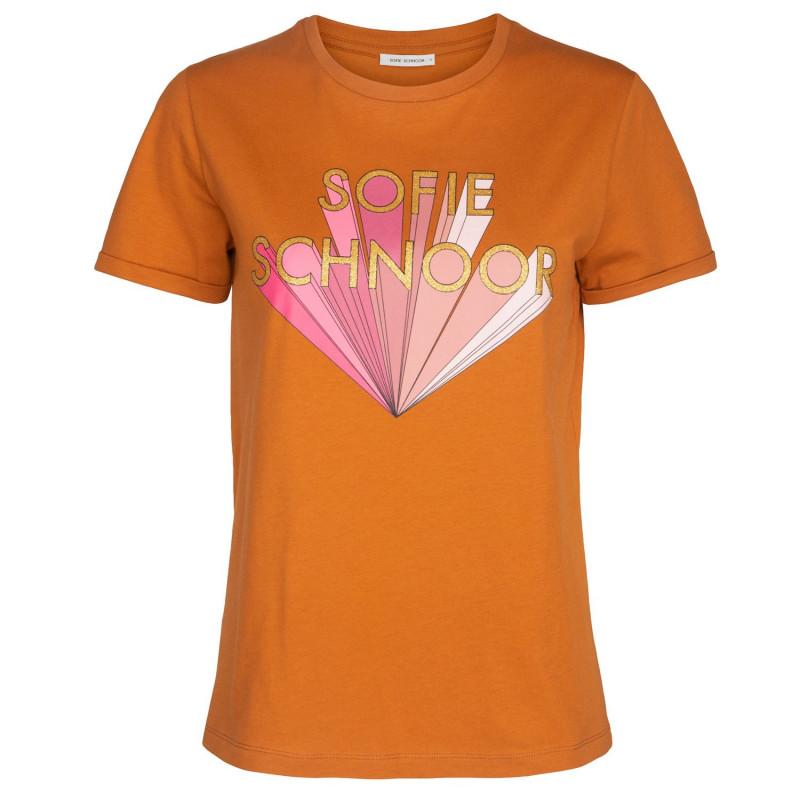 Toffee T-shirt Gold - S191318 fra Sofie Schnoor