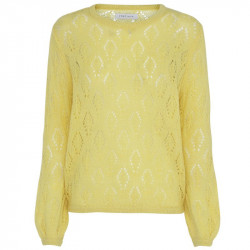 Yellow Wilma Jacquard Knit - 1882 fra Continue