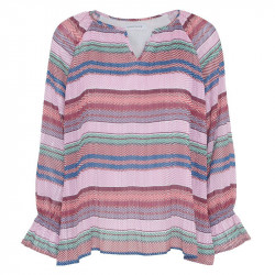 Pink Silver stripe Olivia - Blouse fra Continue