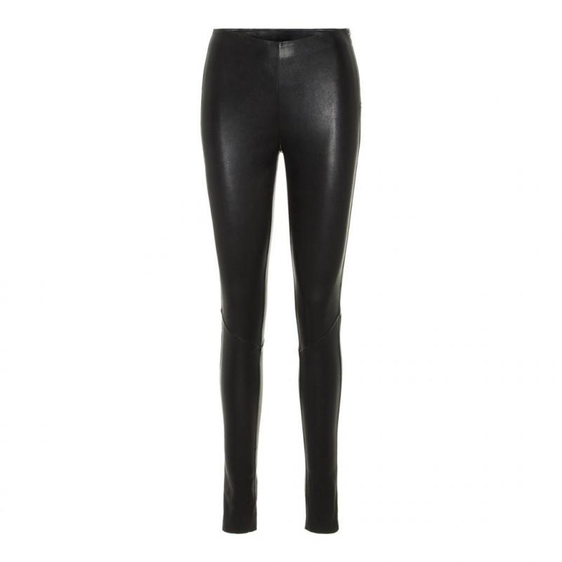 Black yaszeba stretch leather legging noos 26013362 fra yas fra yas på eness
