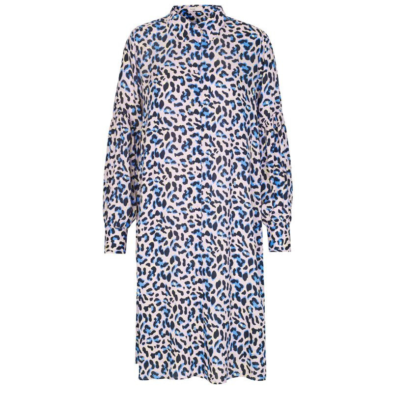Image of POOL BLUE COMBI LEOPARD LR-EMEL 1 dress - 100157 fra Levete Room (90291-406)