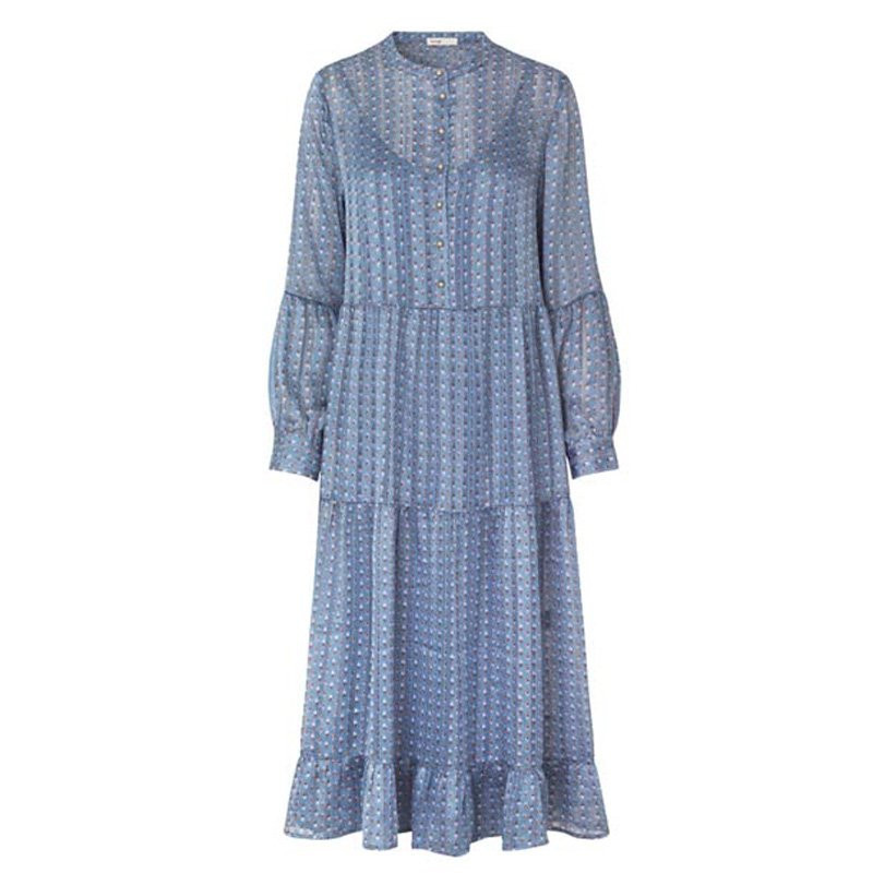 Image of DOVE BLUE COMBI LR-DAVINA 1 dress - 400109 fra Levete Room (90291-285)