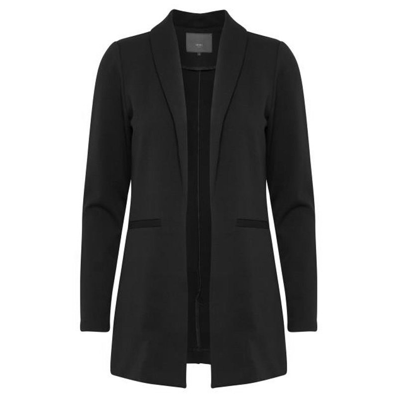 Black Blazer Kate Long - 20105204 Fra Ichi