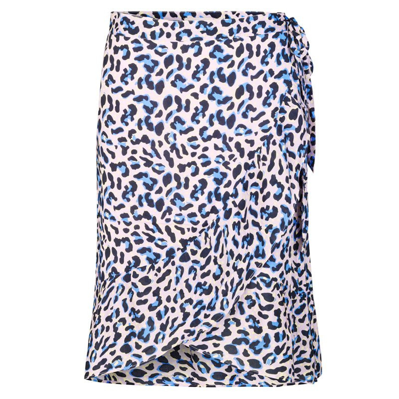 Image of POOL BLUE COMBI LEOPARD LR-EMEL 4 skirt - 100237 fra Levete Room - (90291-b20)