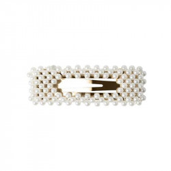 Bright White PCMACIES HAIR CLIP Firkant 17101067 - fra Pieces