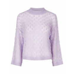 Pastel Lilac YASECCO KNIT PULLOVER - 26014003 fra YAS