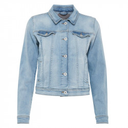 Washed light blue Jacket Cas IHSTAMP JA - 20102428 fra Ichi