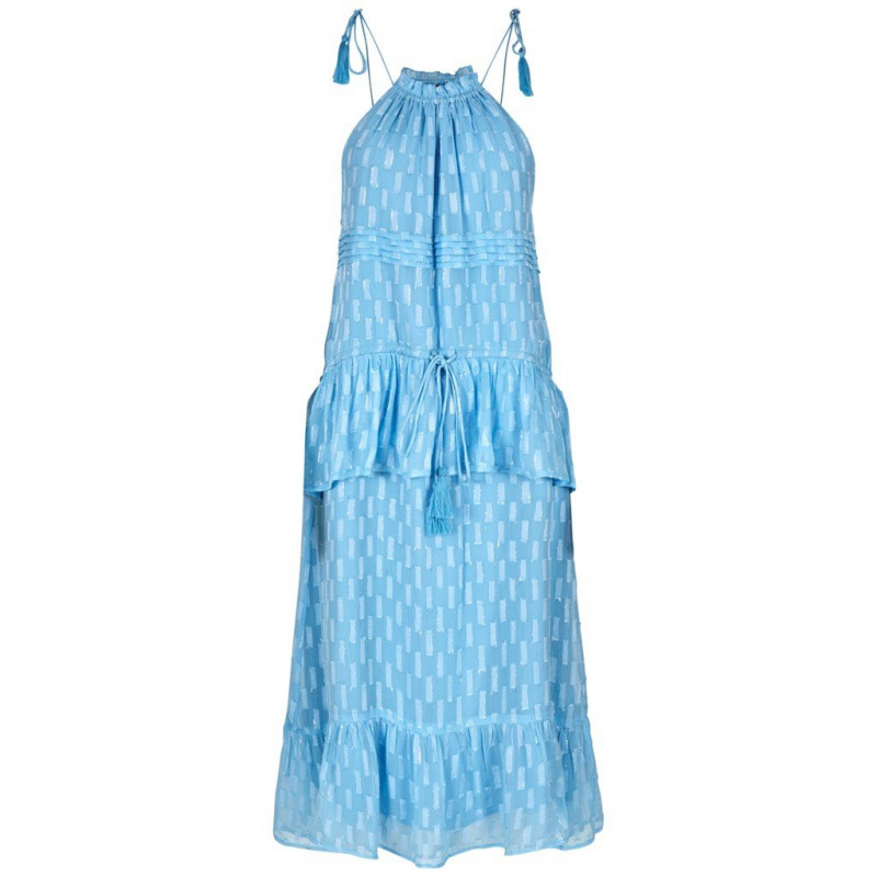 Image of   ALASKAN BLUE W LUREX YASCECILIA DRESS - 26013422 fra YAS