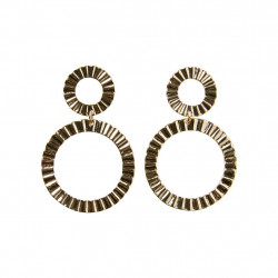 Gold Colour PCCHASTITY EARRINGS Earrings - 17096766 fra Pieces