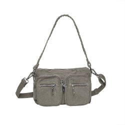 Dusty Grey canvas Celina Bag - Crossover SMALL fra Noella -