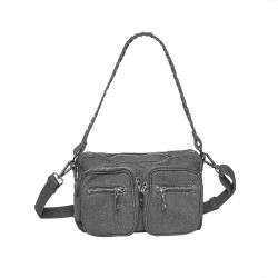 Dusty Black canvas Celina Bag - Crossover SMALL fra Noella -
