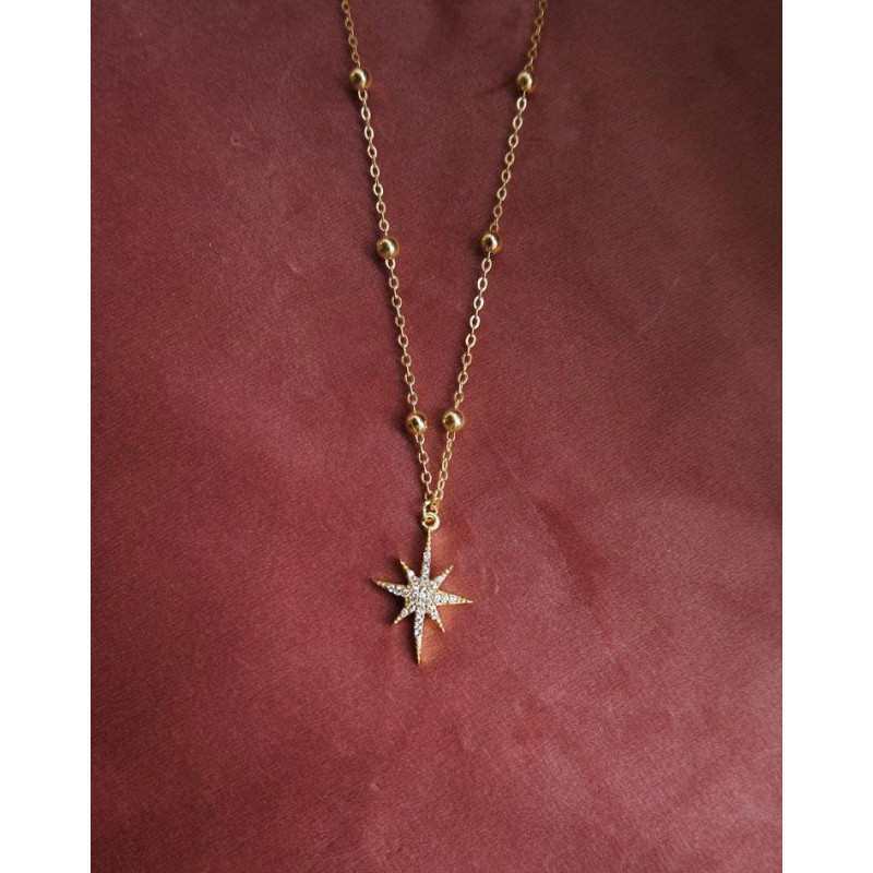 Image of GOLD Shooting Star Necklace 3924-1-00 fra Joseph Cph (96291-652)