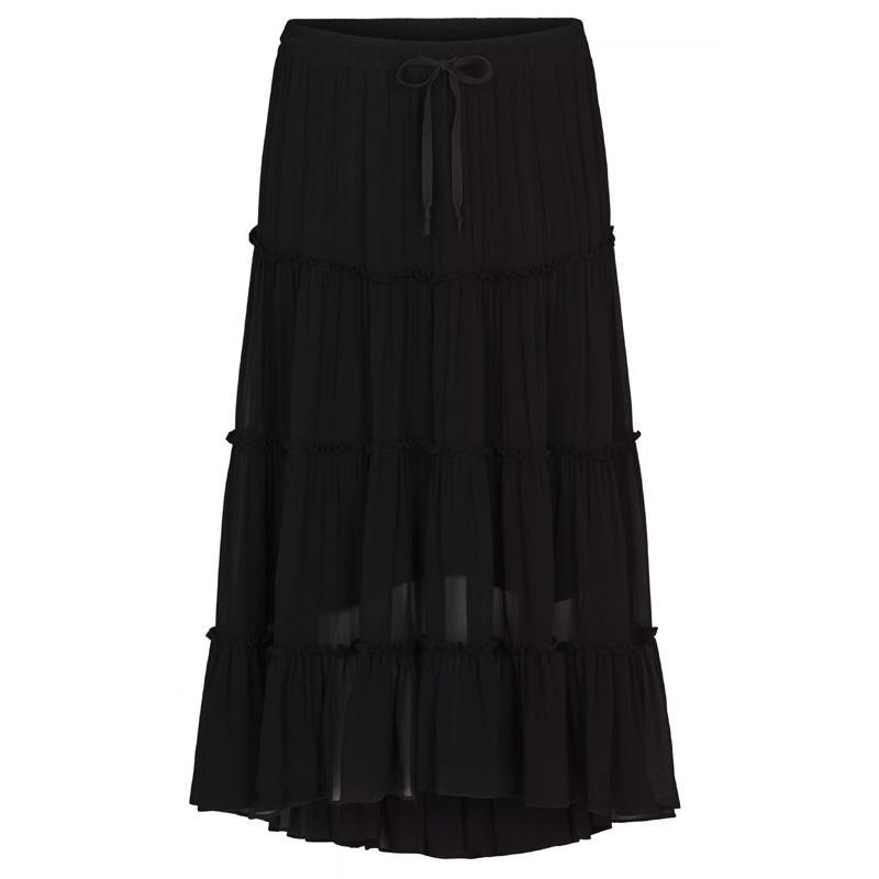 Image of   Black Branchly Midi Skirt 52439 fra Second Female