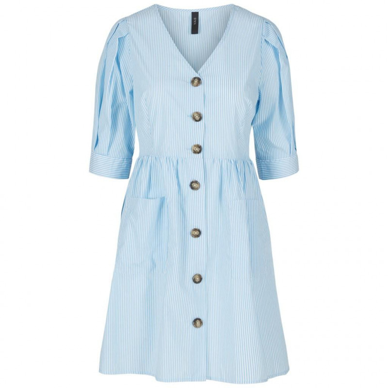 Image of Alaskan Blue YASVILDA SS DRESS 26014219 fra YAS