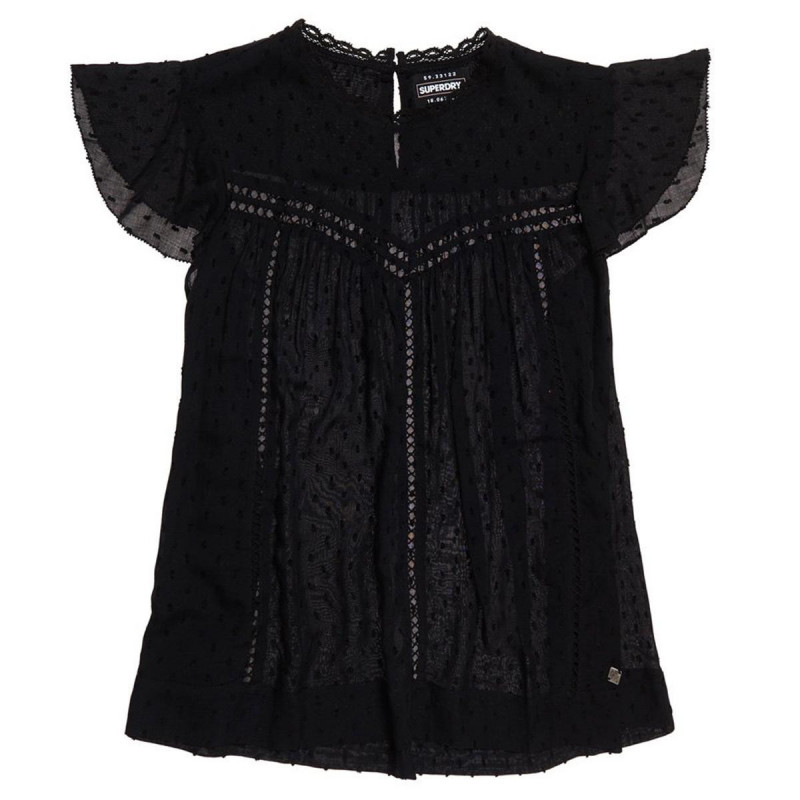 Image of BLACK MONIKA cutwork vest fra SuperDry (972191-818)