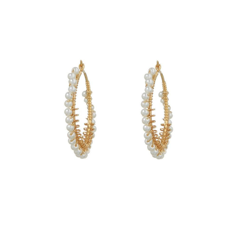 Image of Alexa white earring white pearls fra Joseph Cph (962391-076)