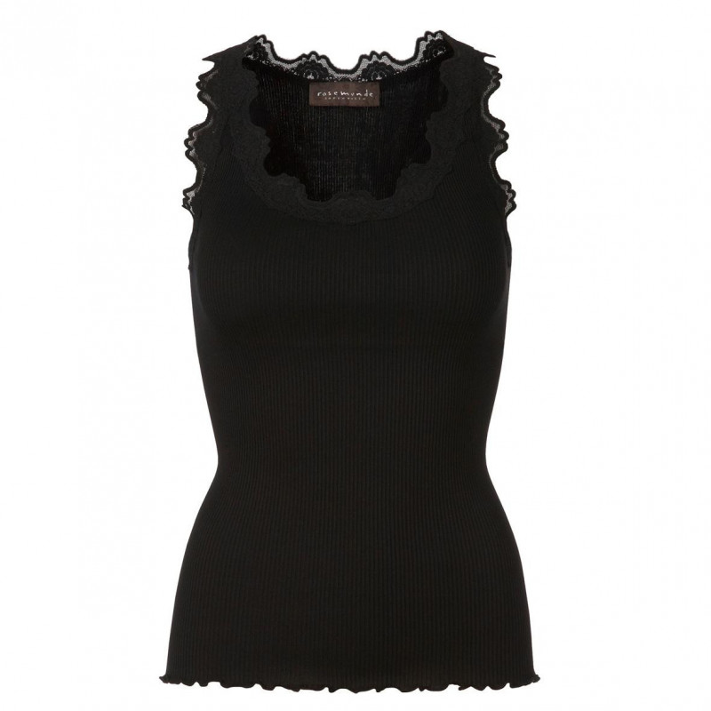 Image of   Black Silk Top - 5405-010 fra Rosemunde
