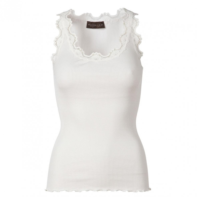 Image of   New white Silk Top - 5405-1049 fra Rosemunde