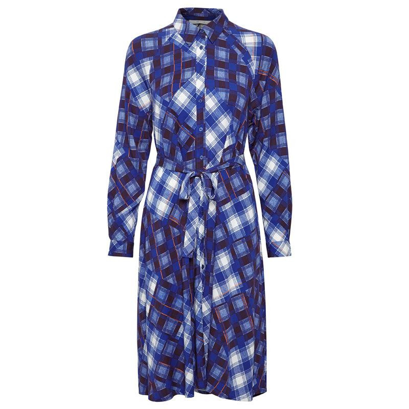 Image of Blue check 10903681 LuanneGZ OZ shirt dress MA19 fra Gestuz (992591-137)