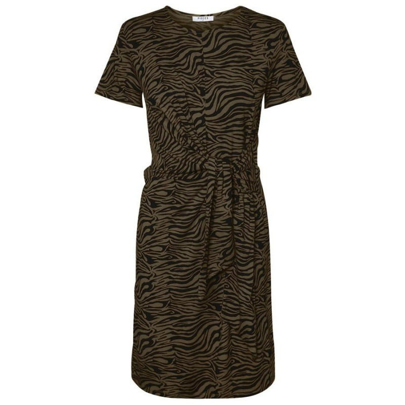 Image of   Beech BLACK TIGER PCVIANNI SS DRESS D2D 17101408 fra Pieces