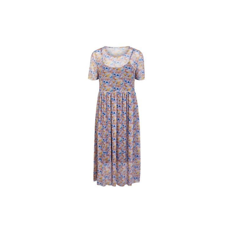 Image of Airy Blue MULTI DOTS PCRIKKE SS DRESS D2D 17103492 fra Pieces