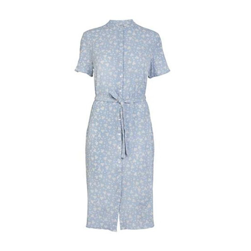 Image of Airy Blue FLOWER PCPATRICIA SS SHIRT DRESS D2D 17103689 fra Pieces
