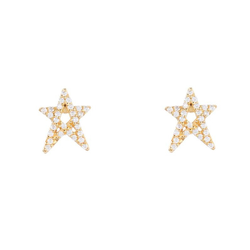 Image of Gold Lullu gold earring Star 1034-1 Joseph Cph (963391-072)