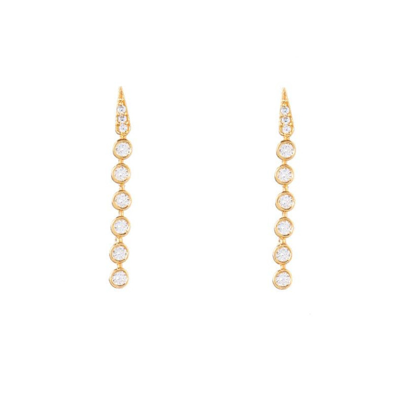 Image of Gold Lexi white earring 1029-1 Joseph Cph (963391-052)