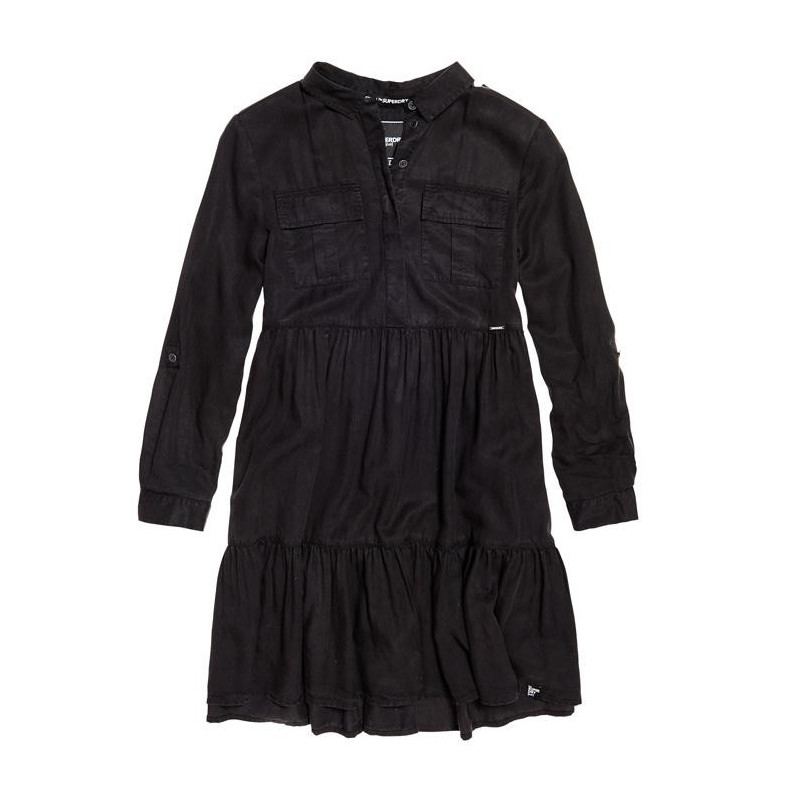 Image of   Washed Black Woven Dress W8000015A fra SuperDry