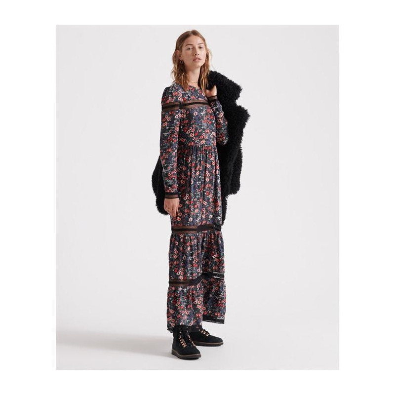 Image of Janie Floral Print Woven Dress W8000027A fra SuperDry (973591-511)