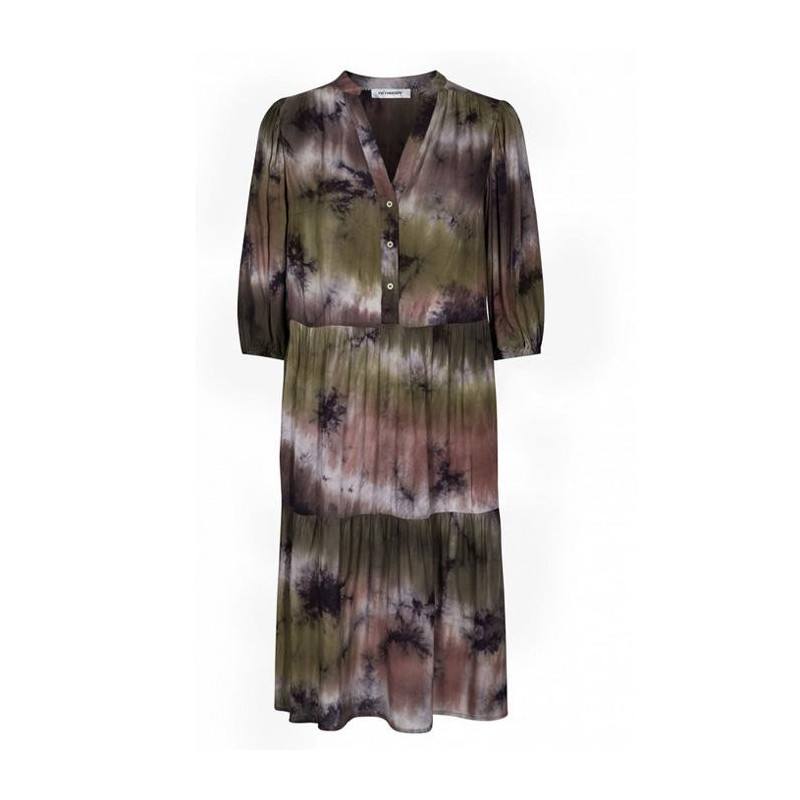 co´couture Dark army cream tie dye dress dress 96169 fra cocouture fra eness