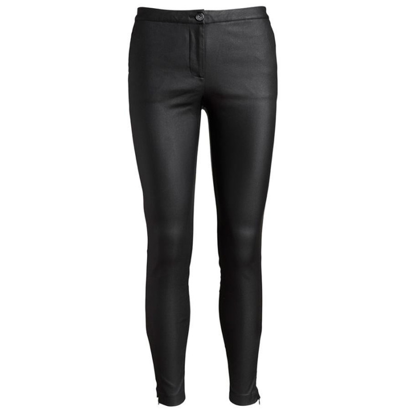 Image of Black New Julia Coated Pant NOOS Pants 71076 fra CoCouture (033791-135)