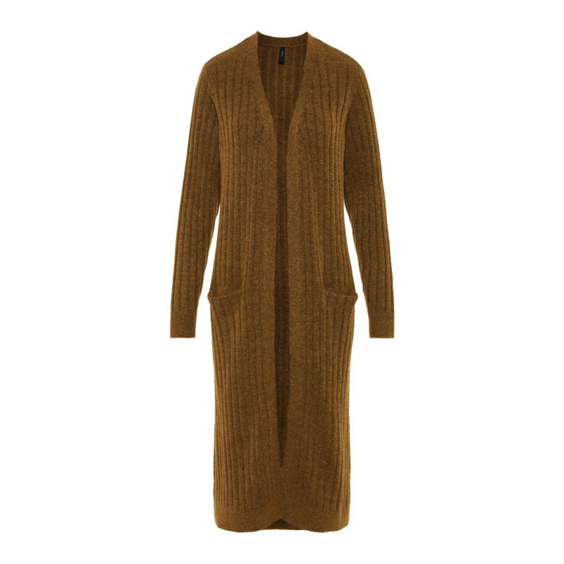 Image of Beech YASCAMPUS LS LONG KNIT CARDIGAN 26015427 fra YAS
