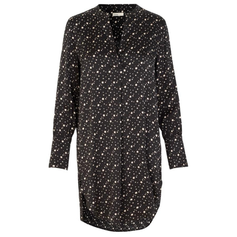 Image of BLACK COMBI LR-HANNA 5 BLOUSE DRESS 400249 fra Levete Room (904091-336)