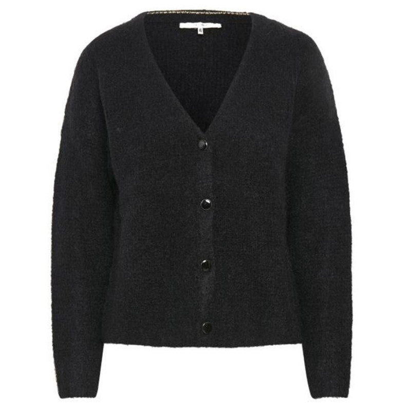 Image of Black DebbieGZ v-neck cardigan 10903125 fra Gestuz (994091-088)