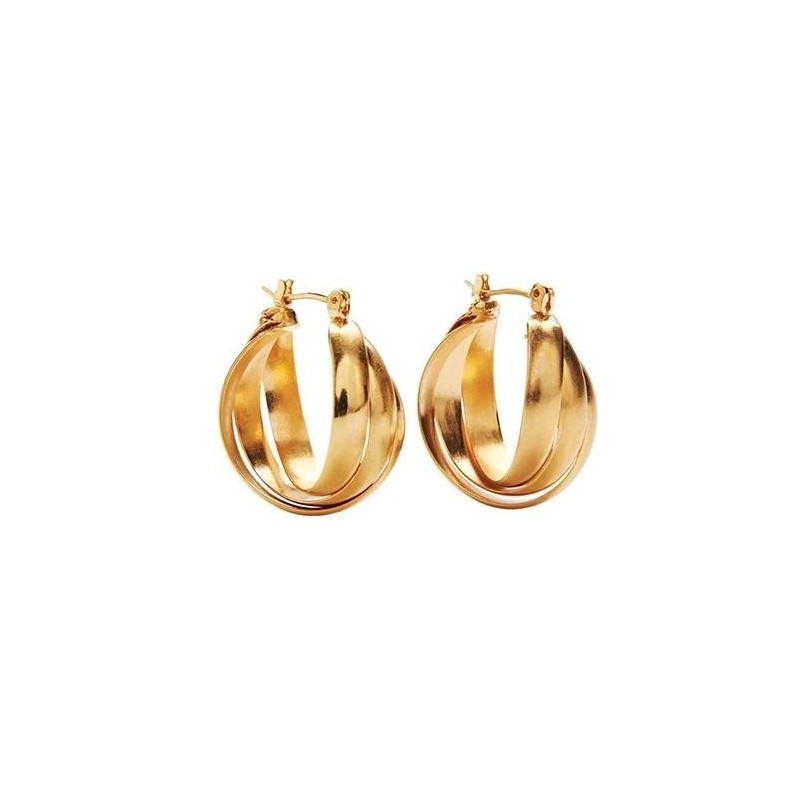 Image of GOLD earring Jessa Hoops KO1008 fra Pico (044391-089)