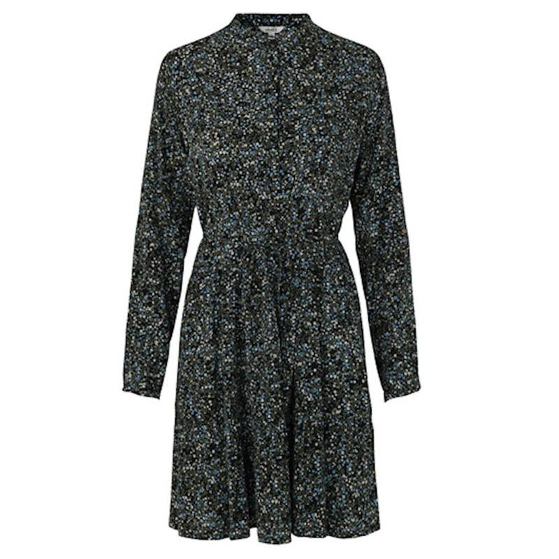 Image of   Madalina Black Print Marra Dress 47917120 fra mbyM