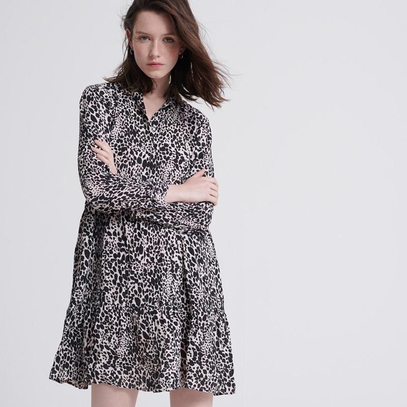 Image of   Alaska Leopard Print SCANDI SHIRT DRESS W8000036A fra Superdry