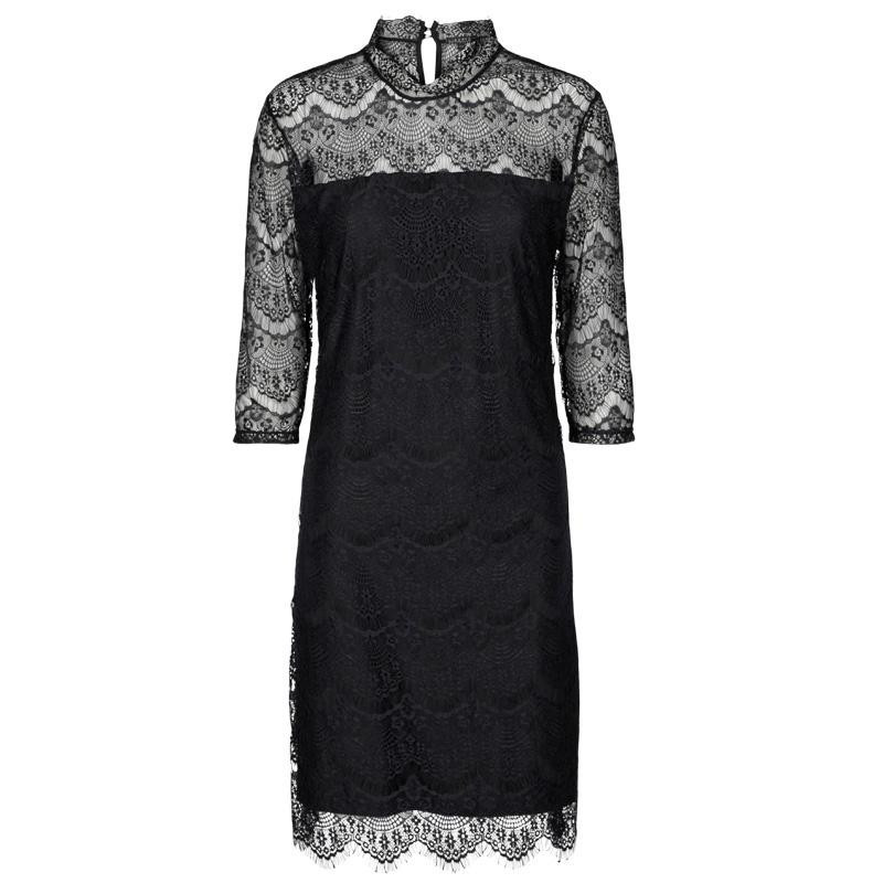 Image of   Black ALMA-LACE-DRESS - 9535 fra Liberte